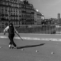 Roller skating on L'île de la cité